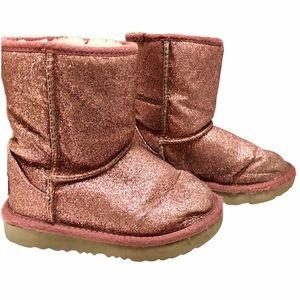 Ugg Boots Kids Classic II Short Pink Glitter
